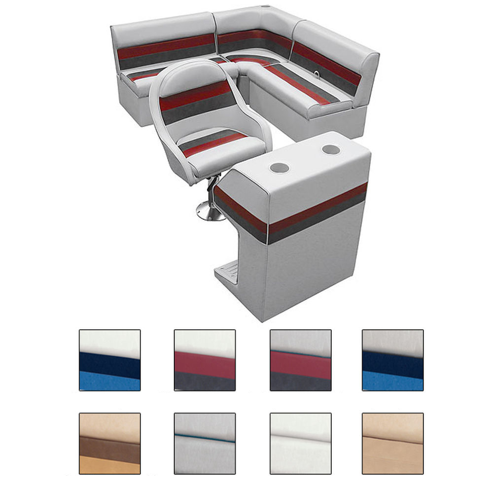 Deluxe Pontoon Furniture w/Classic Base - Rear Group Package D, Gray