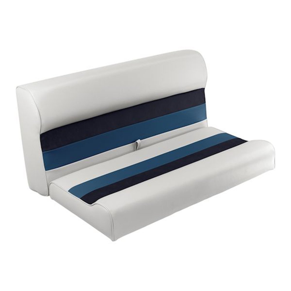 """Toonmate Deluxe 36"""" Lounge Seat - TOP ONLY - White/Navy/Blue"""