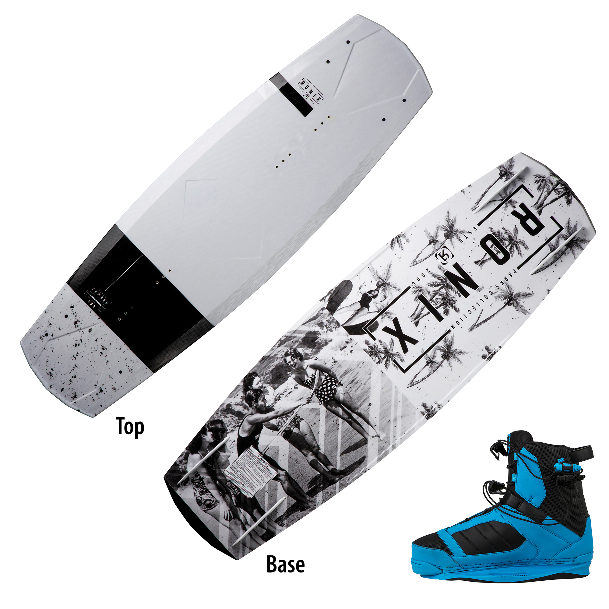 Ronix Parks Modello Wakeboard With Cocktail Bindings