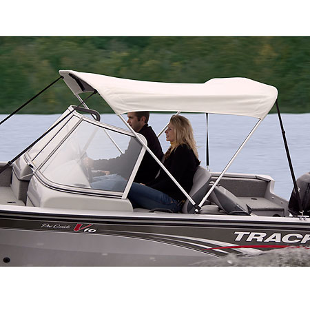 Shademate Polyester Stainless 2-Bow Bimini Top 5'6''L x 42''H 54''-60'' Wide