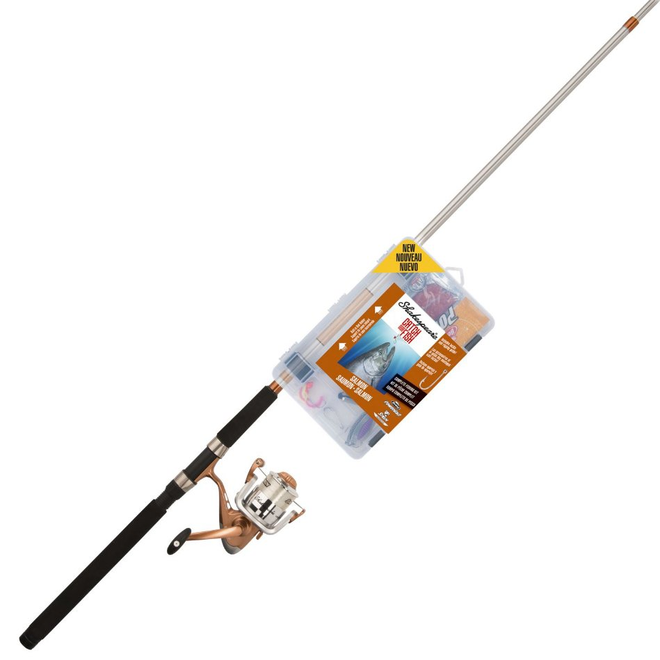 Shakespeare Catch More Fish Salmon Spinning Rod And Reel Combo
