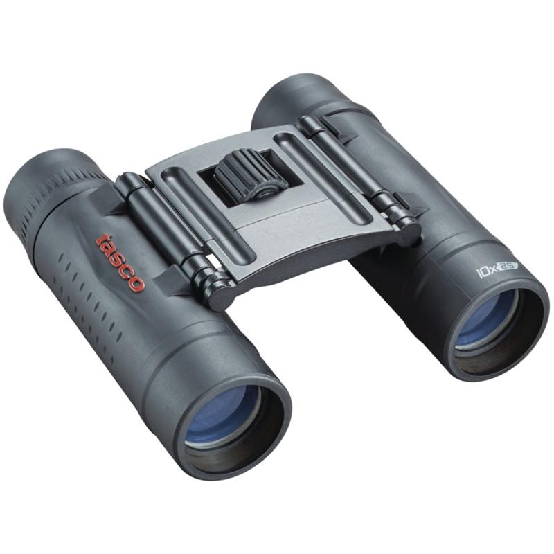 Tasco 10×25 Essentials Roof Binoculars, Black