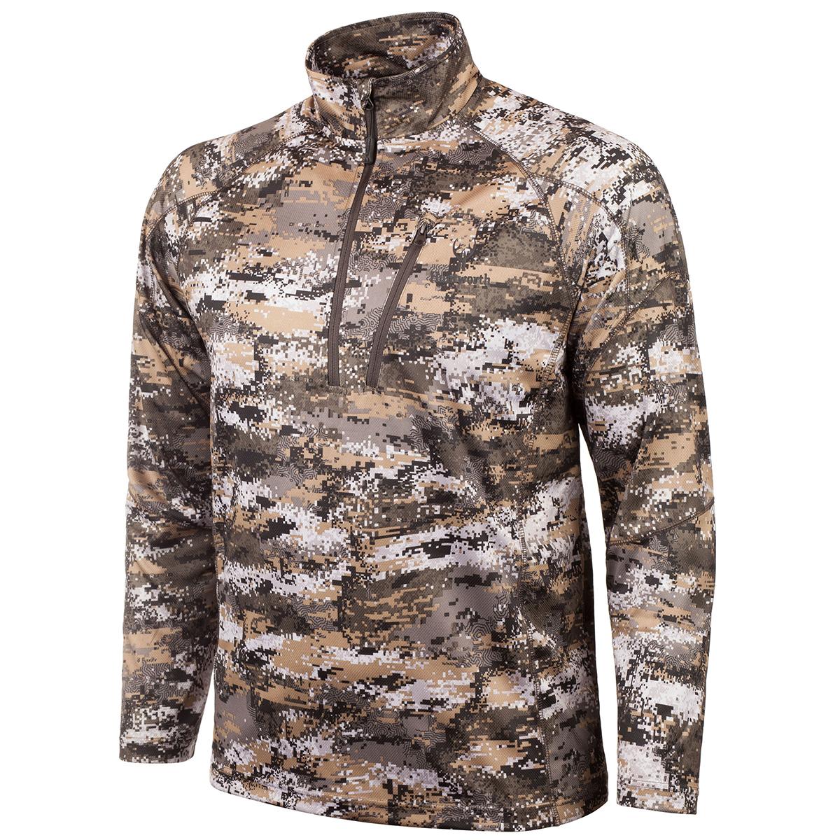 Huntworth Men Lightweight Quarter zip Shirt Disruption Camo