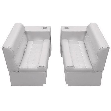 Deluxe Pontoon Furniture w/Toe Kick Base - Front Group 5 Package, Gray