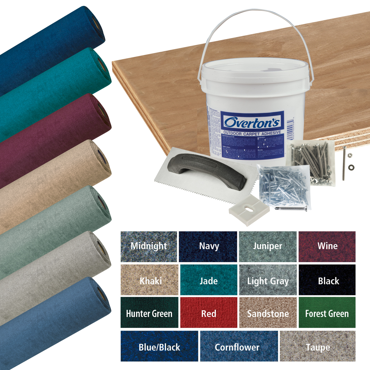 Overton's Daystar Carpet and Deck Kit, 8.5'W x 16'L