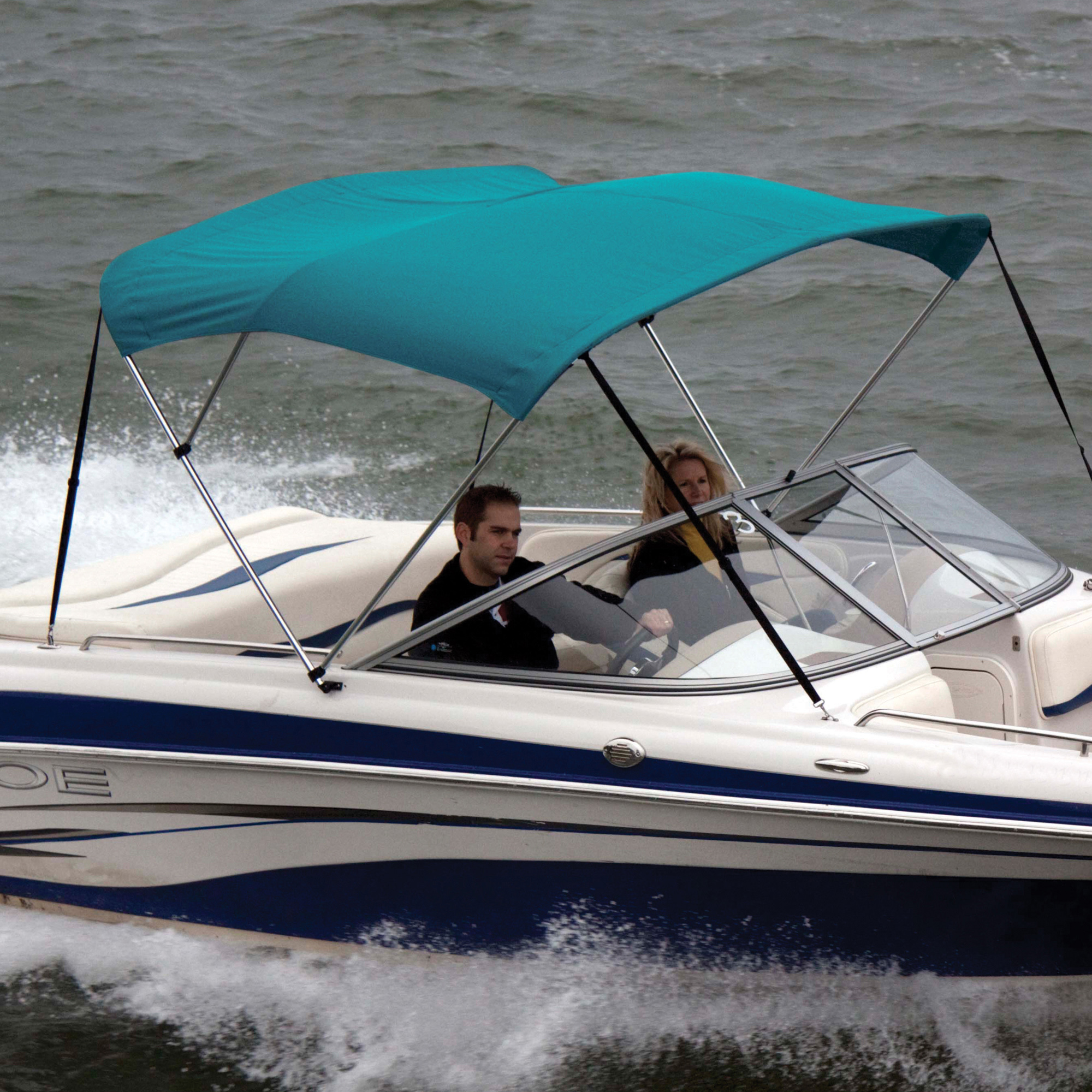 """Shademate Bimini Top Sunbrella Fabric and Boot Only, 3-Bow 5'L, 32""""H, 85""""-90""""W"""