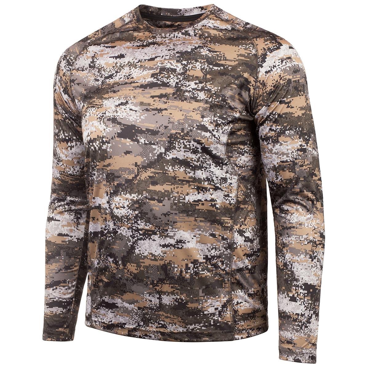Huntworth Men's Long-Sleeve Hunting Shirt, Disruption Camo
