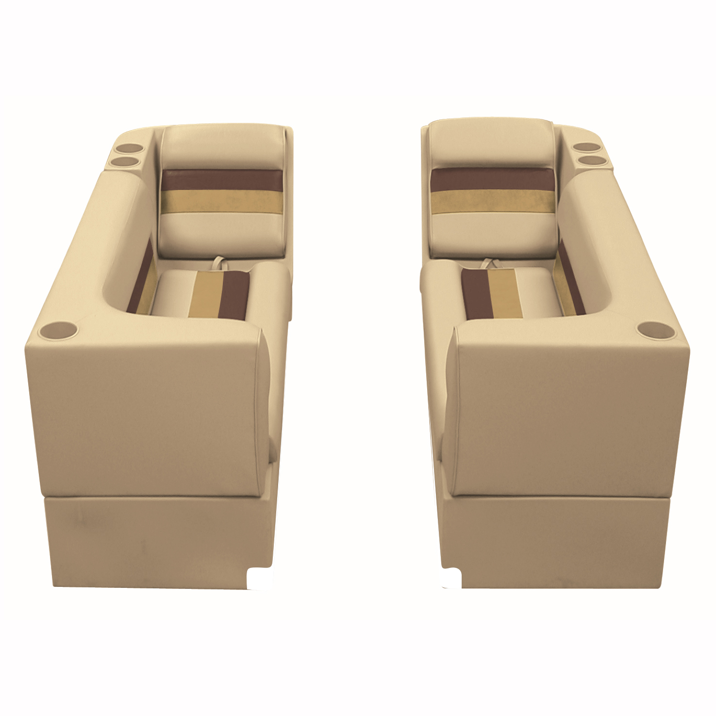 Deluxe Pontoon Furniture w/Toe Kick Base - Front Group Package B, Sand/Ches/Gold