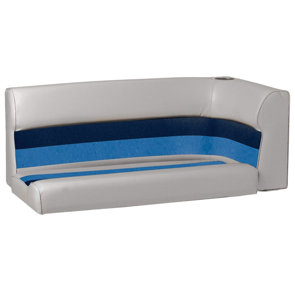 Toonmate Deluxe Pontoon Left-Side Corner Couch - TOP ONLY - Gray/Navy/Blue