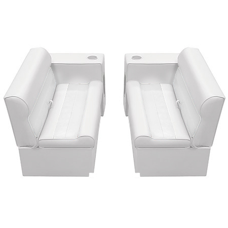Deluxe Pontoon Furniture w/Toe Kick Base - Front Group 5 Package, White