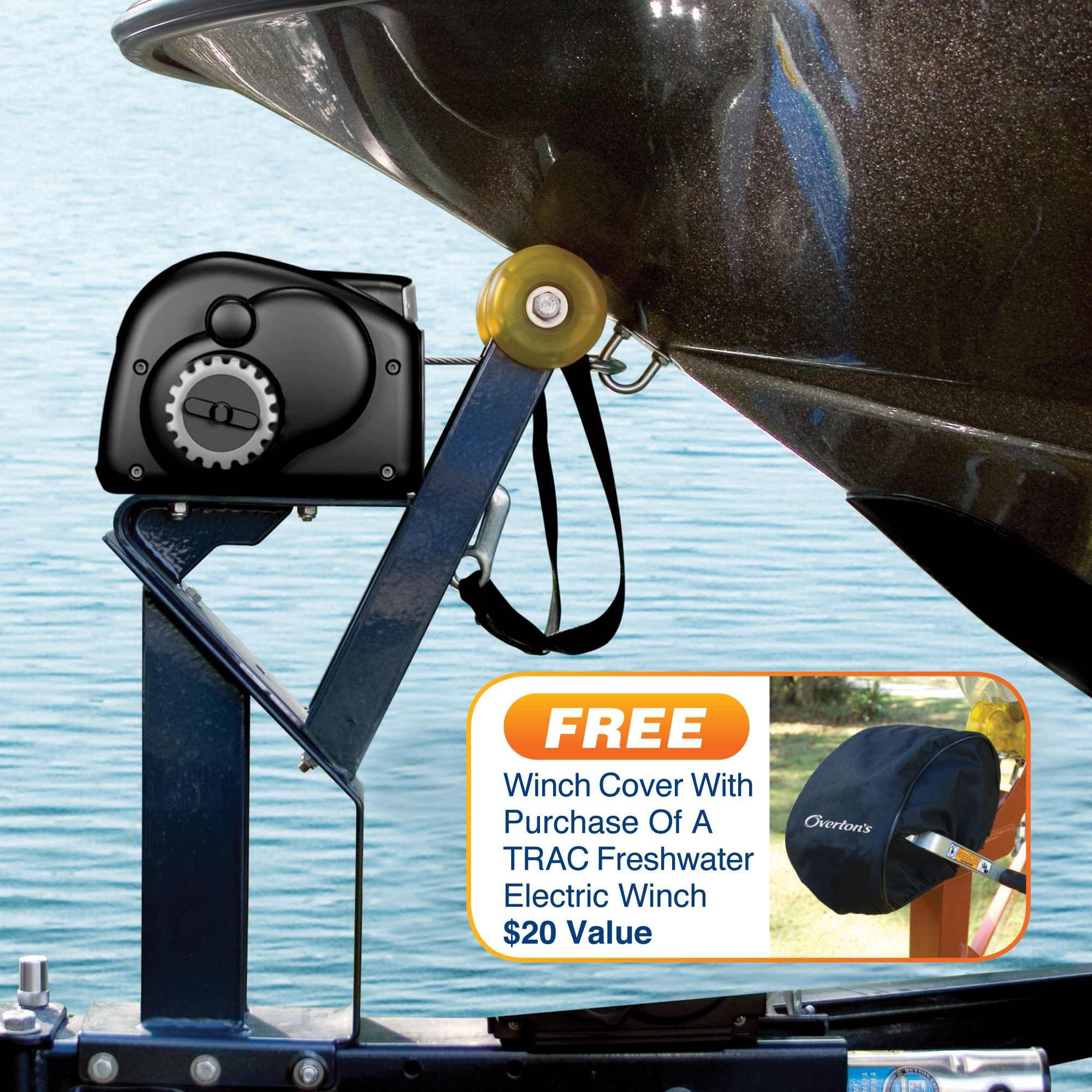 Trac Day Runner Freshwater Electric Trailer Winch With