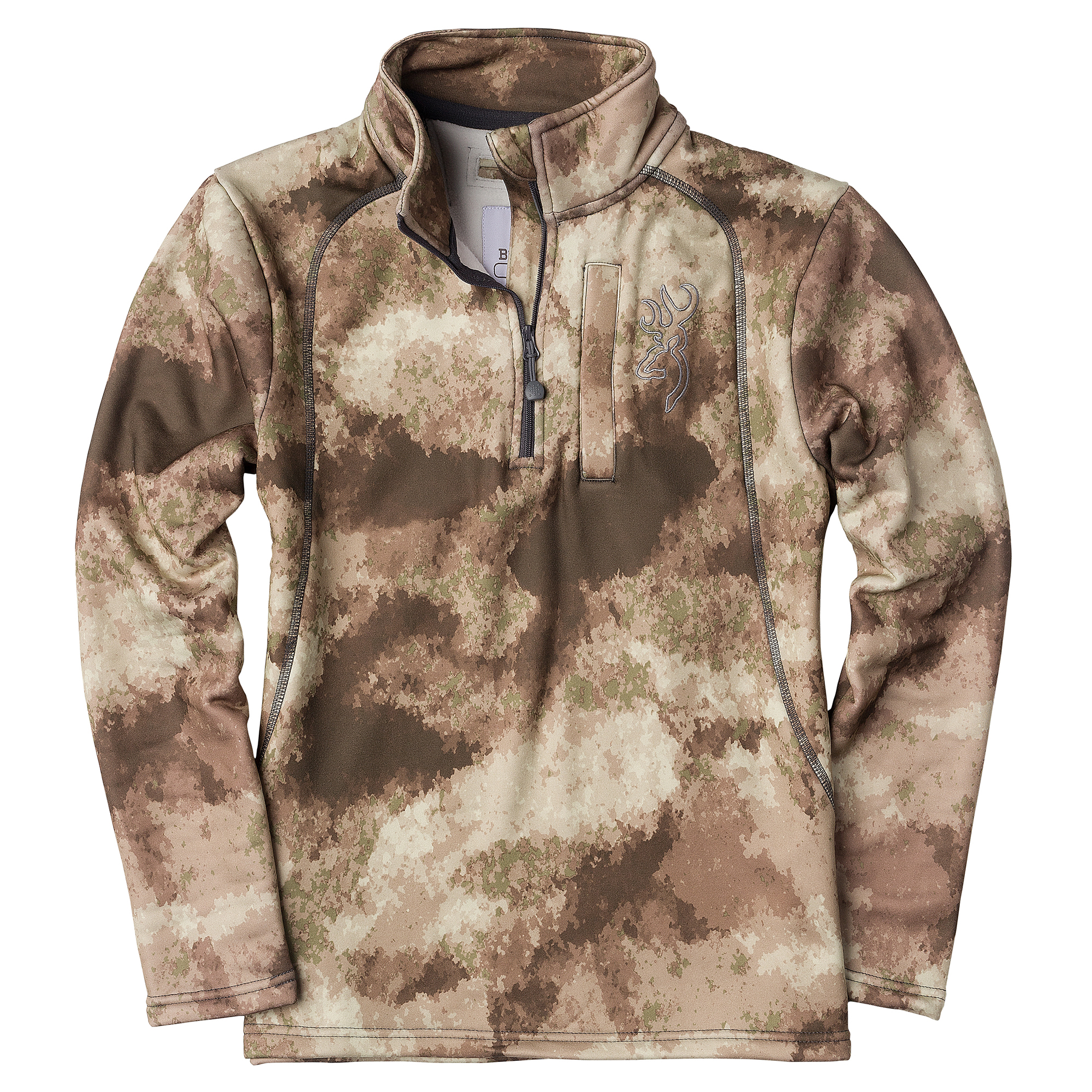 Browning Youth Camo Quarter-Zip Pullover, A-TACS Arid/Urban