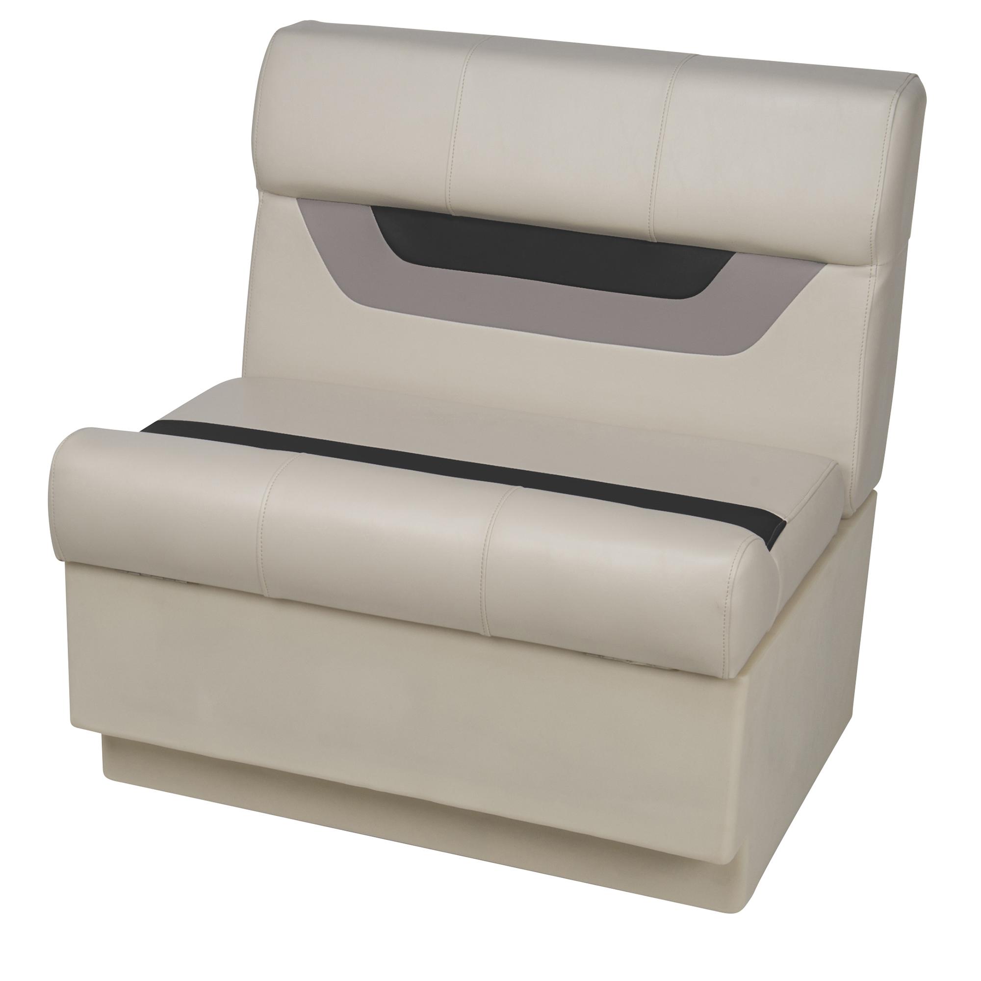 """Toonmate Designer Pontoon 27"""" Wide Bench Seat - TOP ONLY - Platinum/Black/Mocha"""