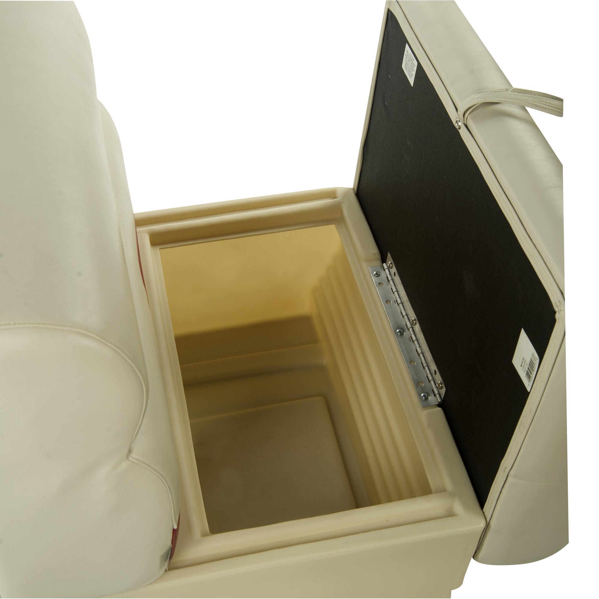 "Toonmate Premium Pontoon 50"" Wide Lounge Seat w/Platinum Base"