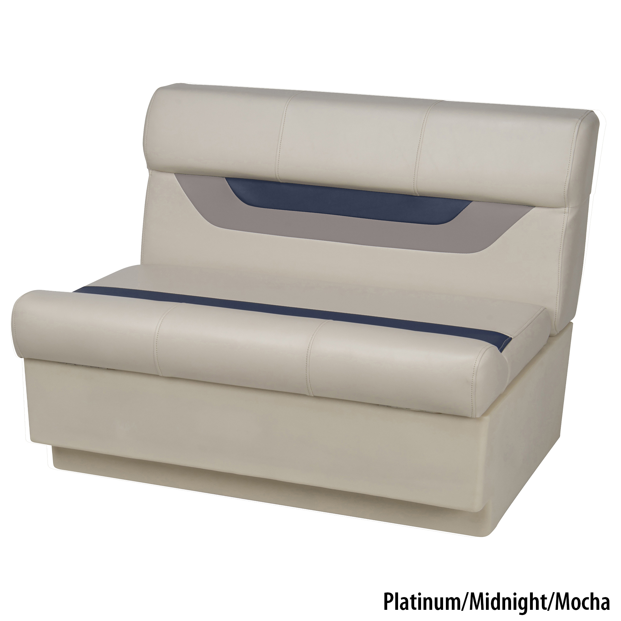 "Toonmate Designer Pontoon 36"" Wide Bench Seat, Platinum"