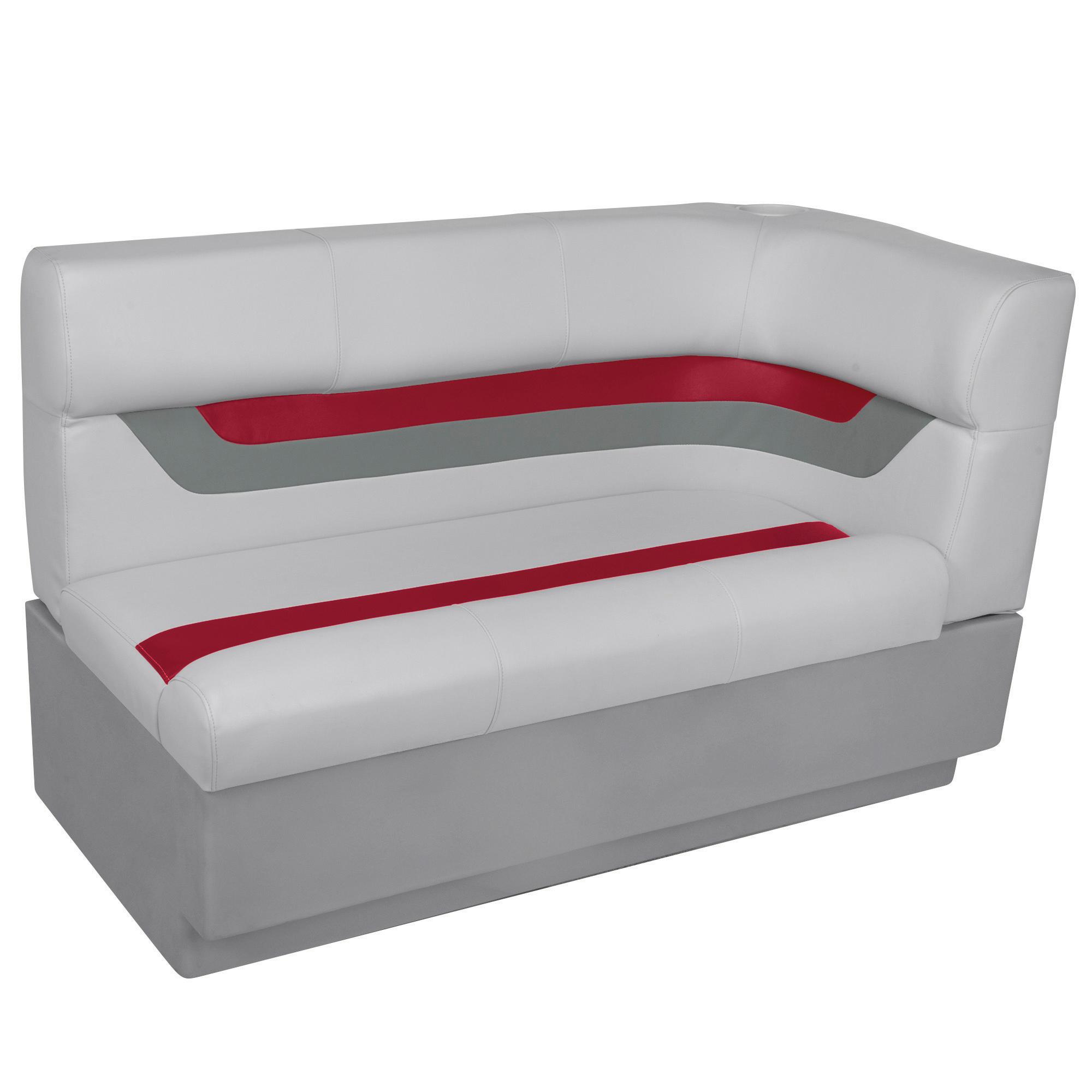 Toonmate Designer Pontoon Left-Side Corner Couch - TOP ONLY - Sky Gray/Dark Red