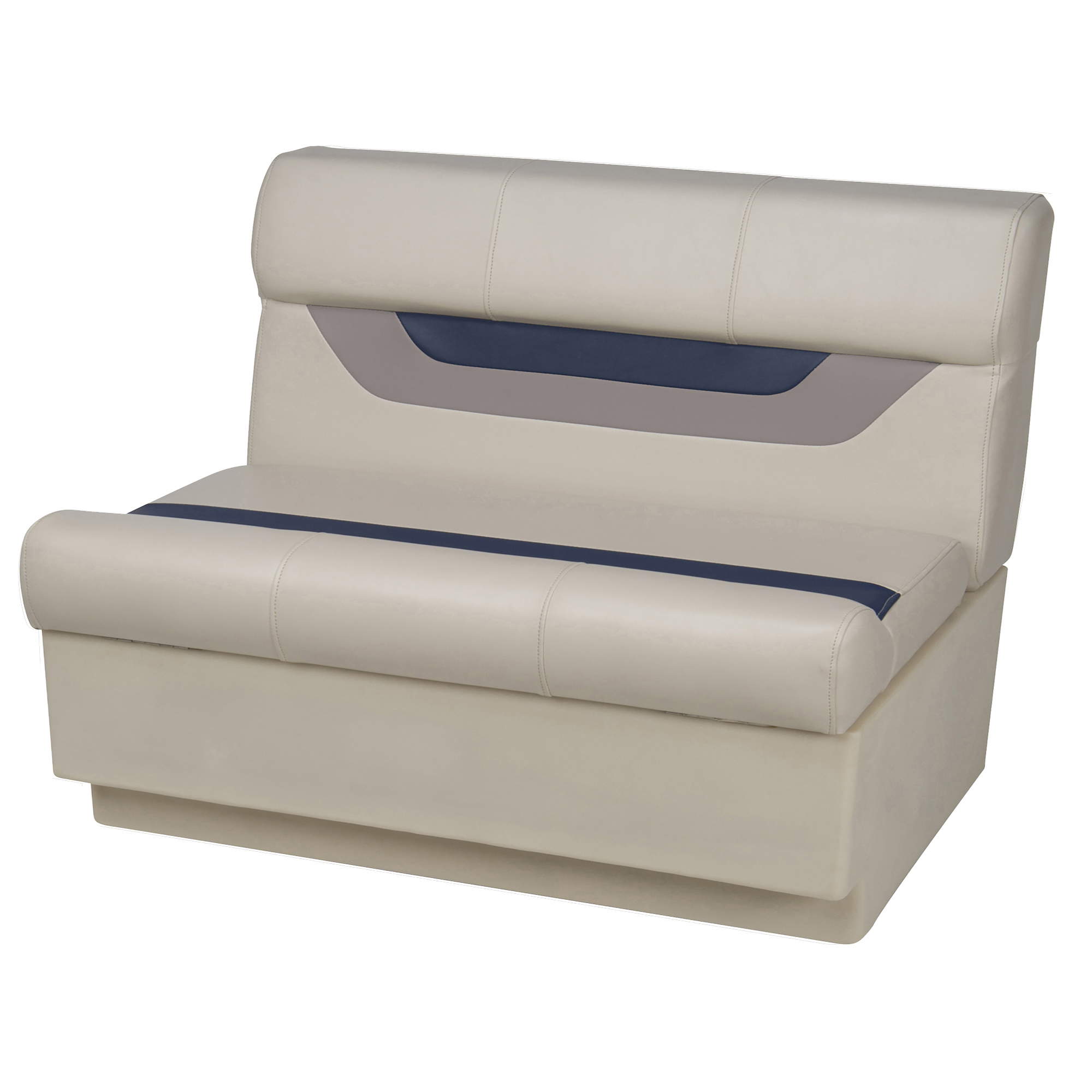 "Toonmate Designer Pontoon 36"" Wide Bench Seat - TOP ONLY - Platinum/Midnight/Mocha"