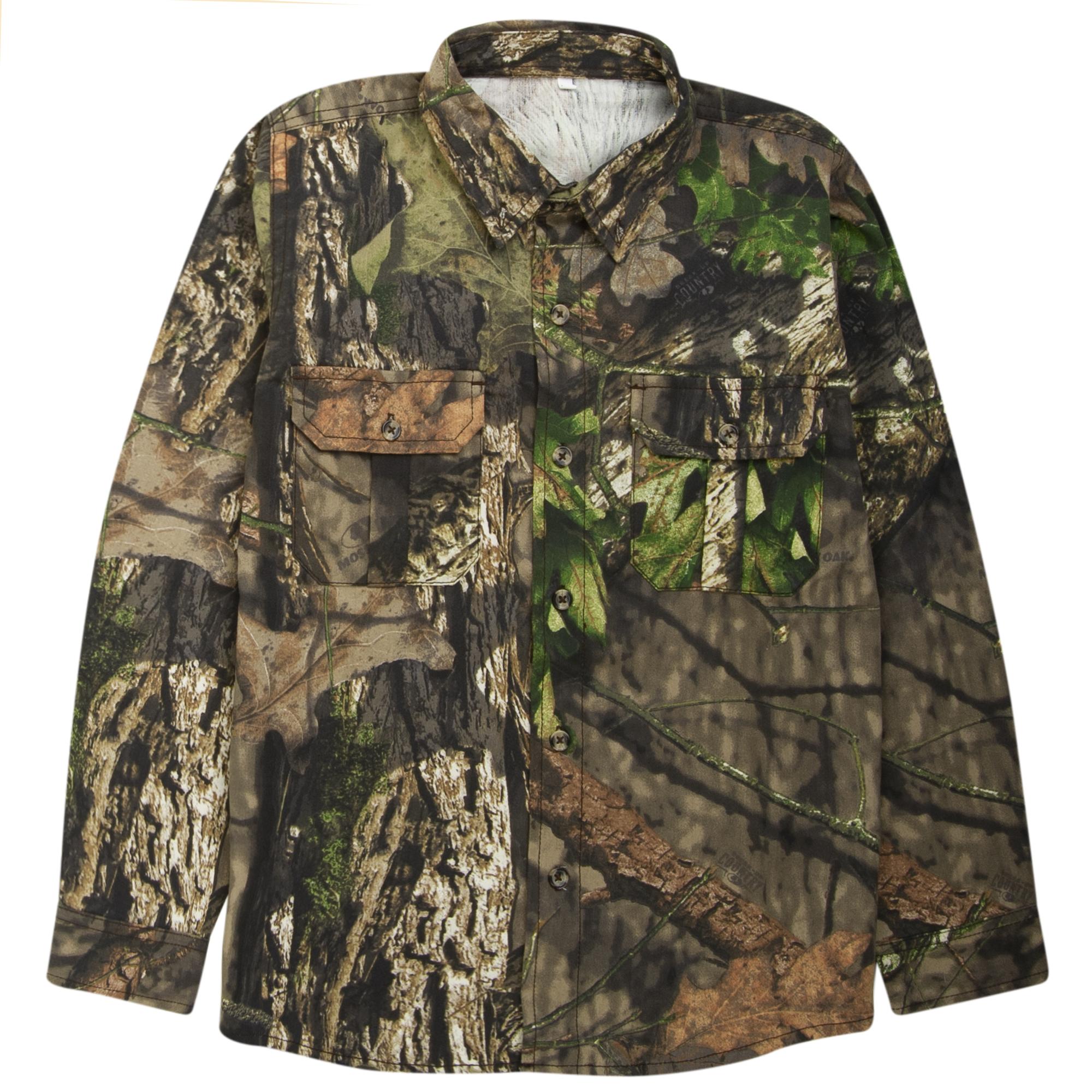 Hunter's Choice Youth Camo Button-Up Shirt, Mossy Oak Break-Up Country