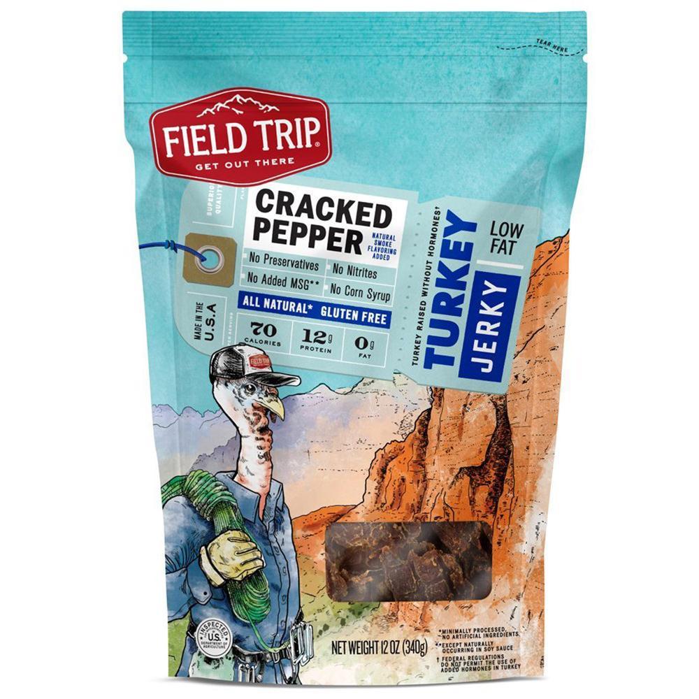 Field Trip Cracked Pepper Turkey Jerky, 12 oz.