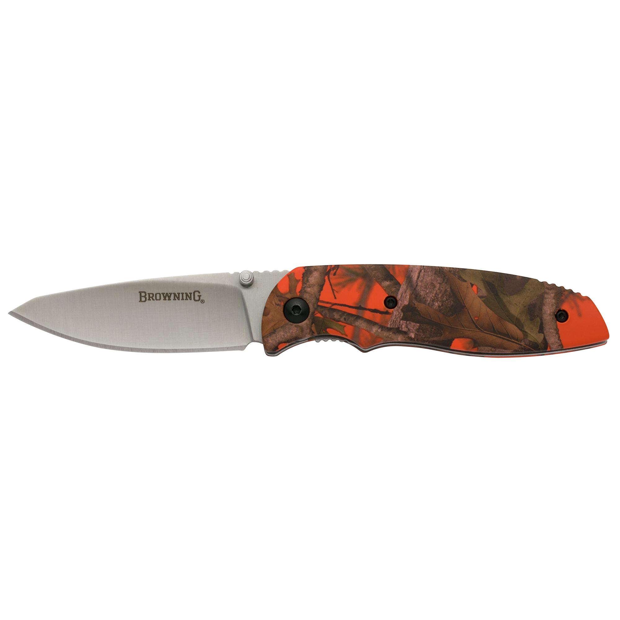 Browning EDC Folder Folding Knife, Blaze Camo