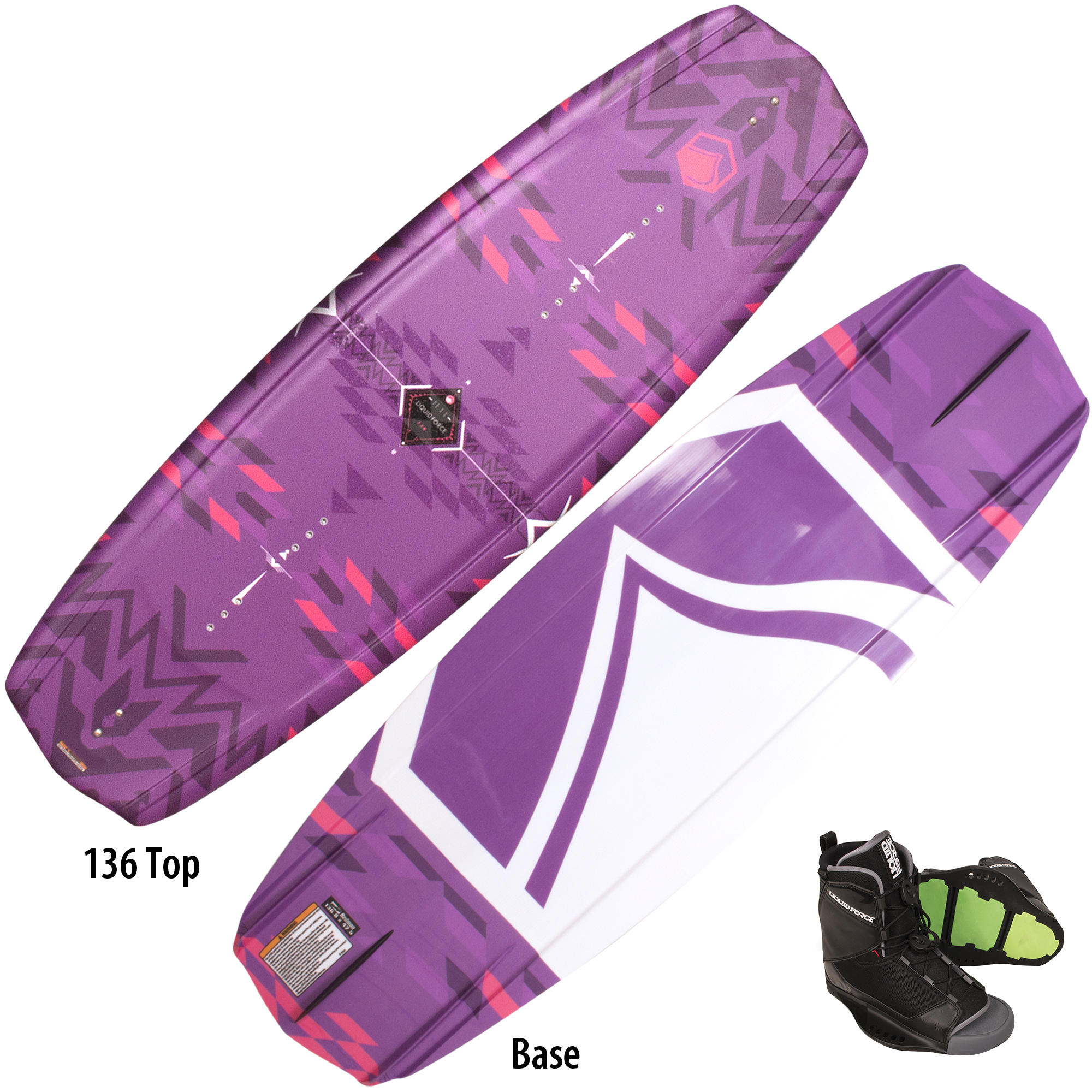 Liquid Force Jett Wakeboard With Women's Transit Bindings