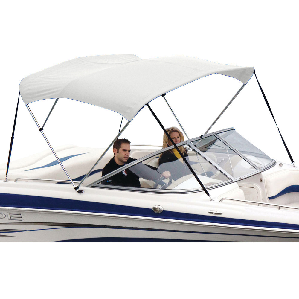 Shademate White Vinyl Stainless 3-Bow Bimini Top 5'L x 32''H 54''-60'' Wide
