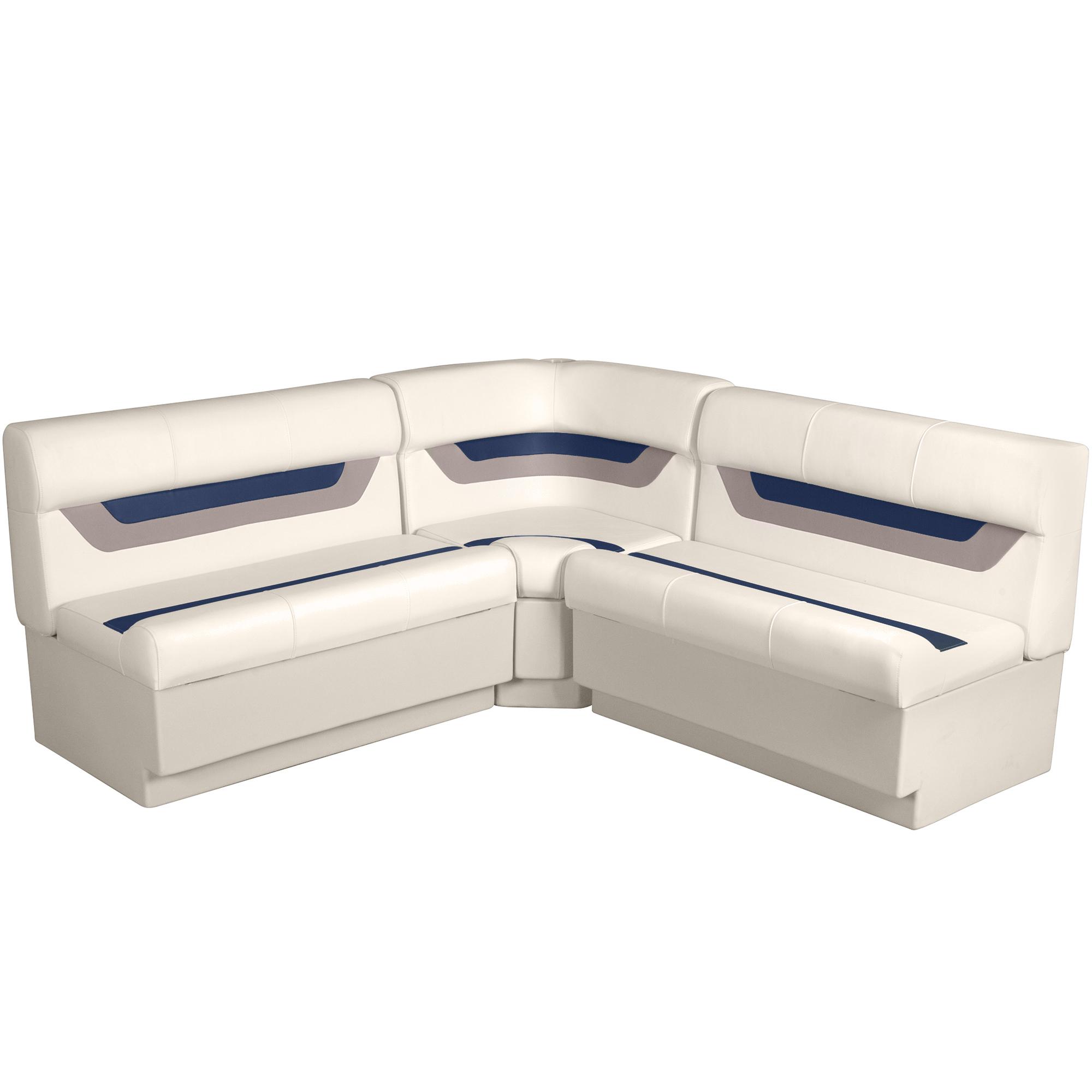 """Designer Pontoon Furniture - 61"""" Rear Wraparound Package, Platinum/Midnight/Moch"""