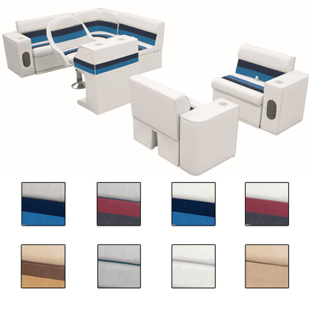 Deluxe Pontoon Furniture w/Toe Kick Base, Group 6 Package, White