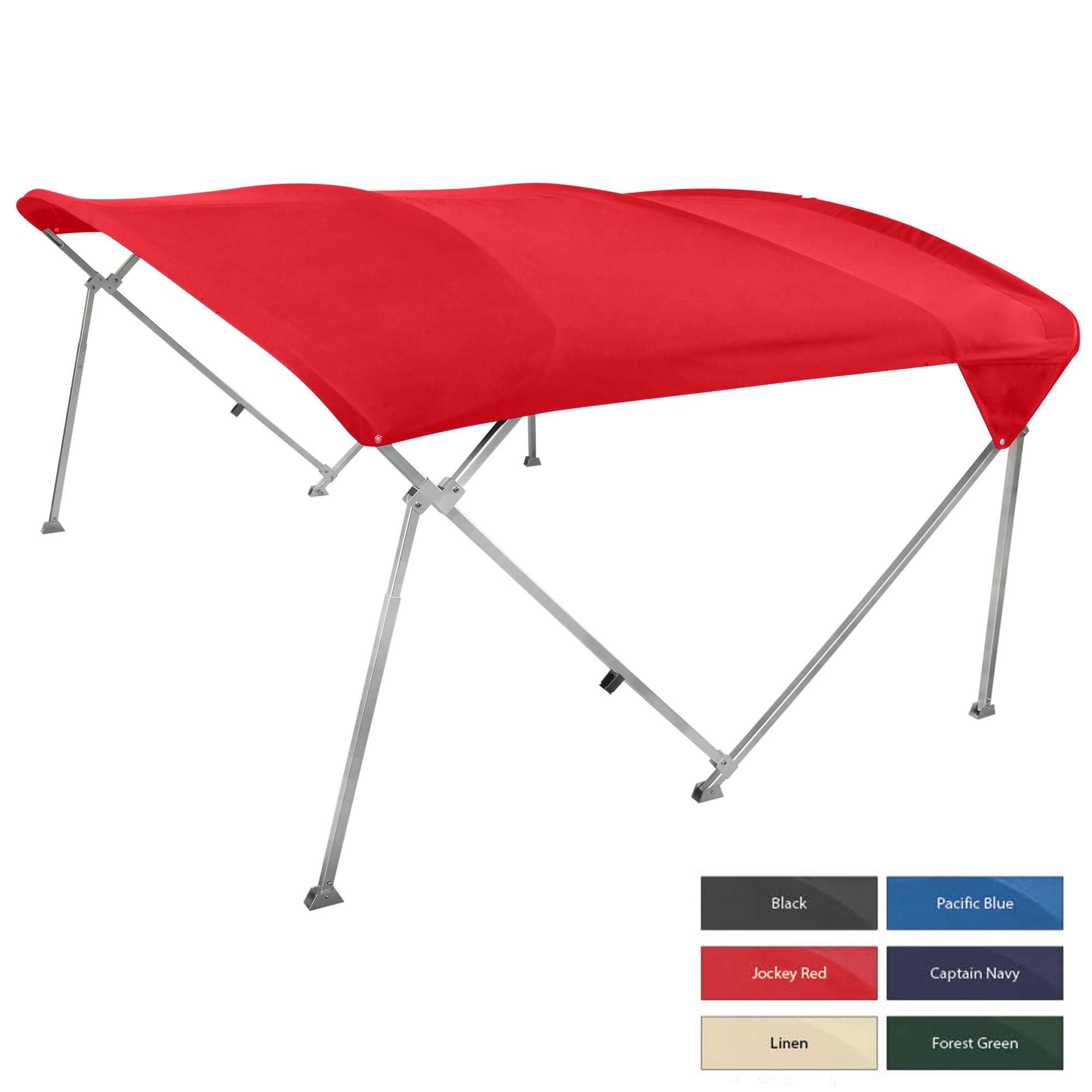 Shademate Extra Long Big Top Pontoon Bimini Top, Sunbrella Acrylic, 1