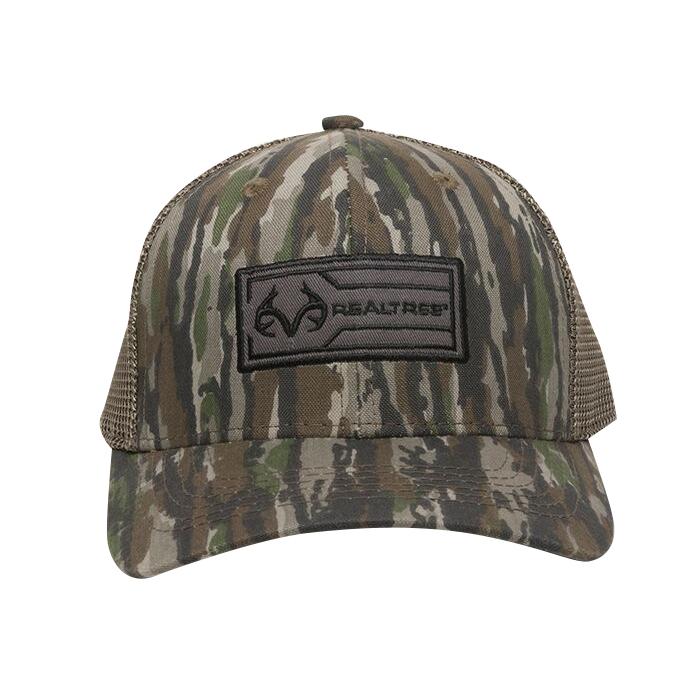 Realtree Men's Patch Logo Camo Trucker Cap