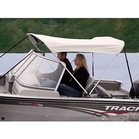 """Shademate Bimini Top White Vinyl Fabric/Boot Only, 2-Bow 5'6""""L x 42""""H, 73""""-78""""W"""