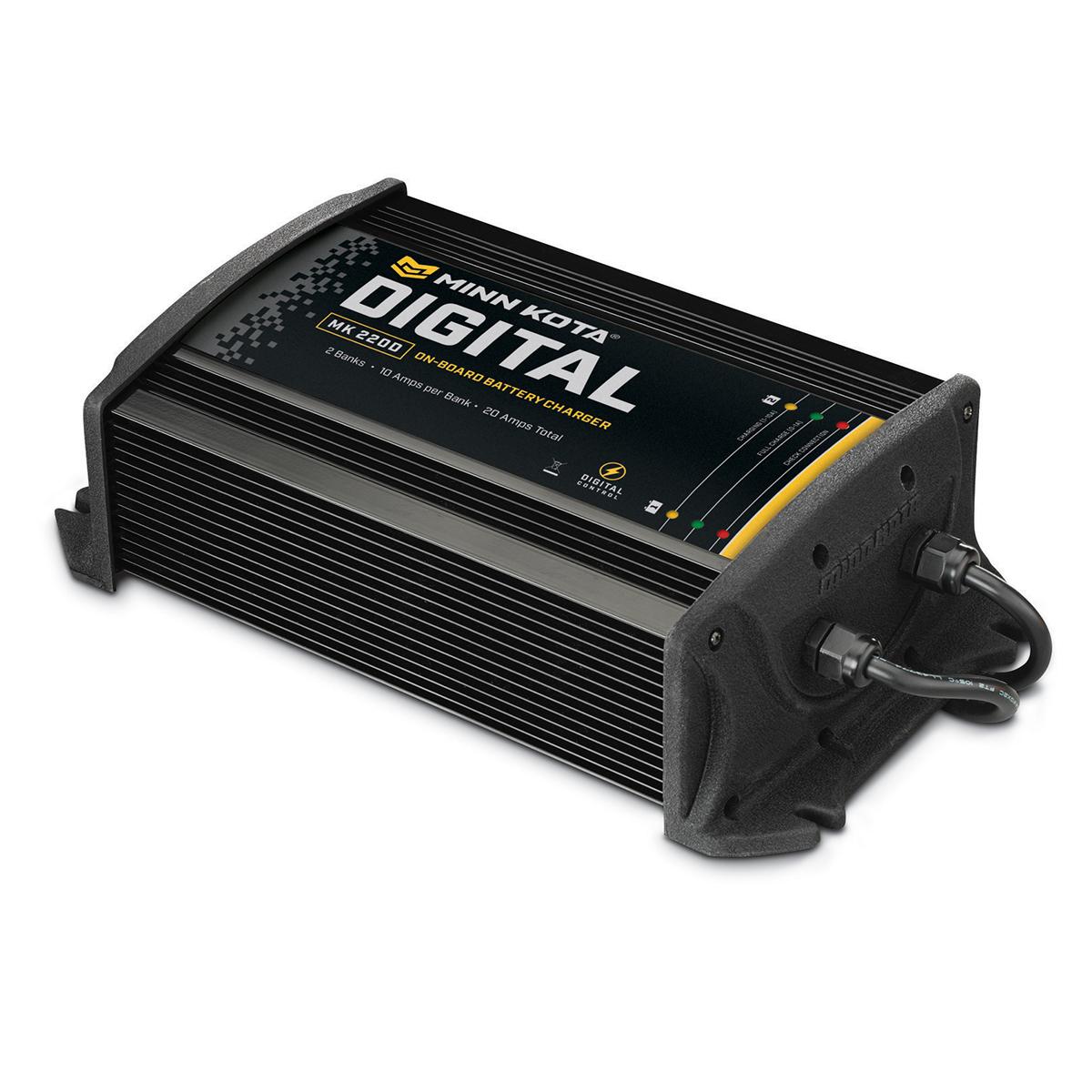 Minn Kota On-Board Digital Charger - 2 Banks, 10 Amps
