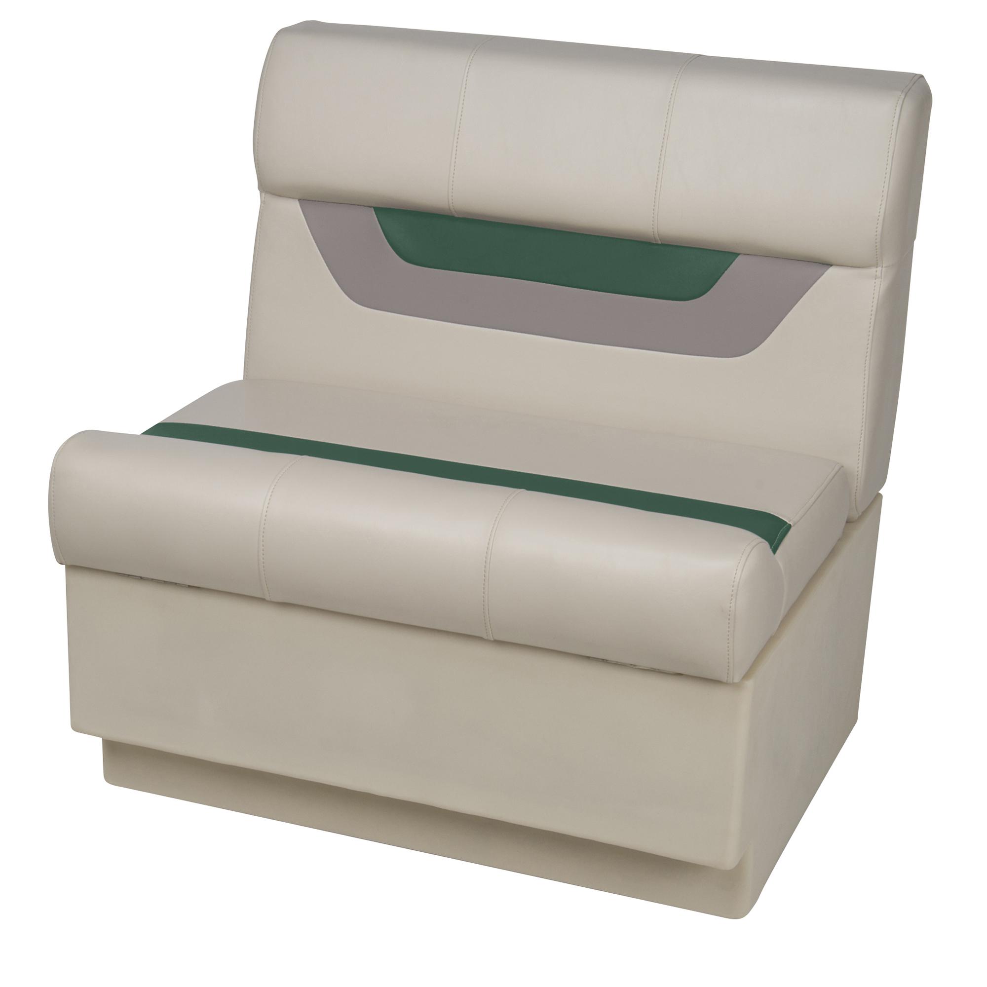 "Toonmate Designer Pontoon 27"" Wide Bench Seat, Platinum"