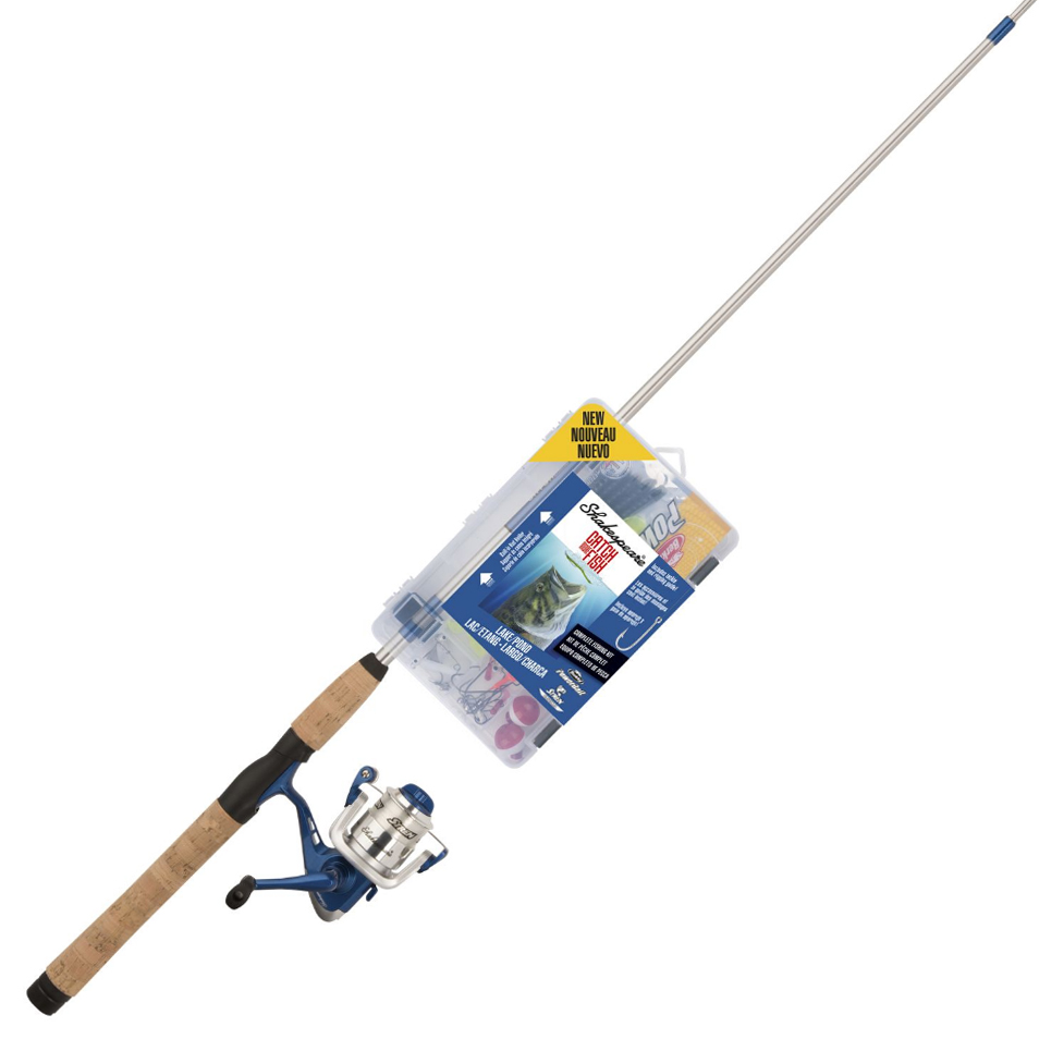 Shakespeare Catch More Fish Lake/Pond Spinning Rod And Reel Combo thumbnail