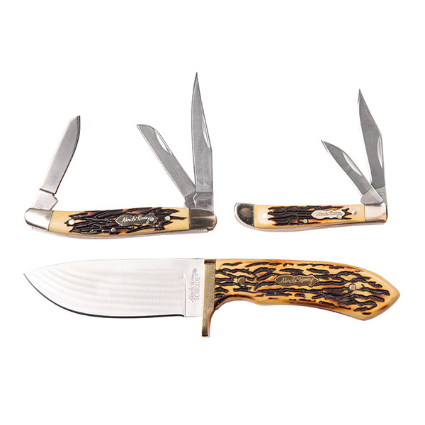 Uncle Henry Golden Spike Rat Tail Tang Fixed Blade Knife