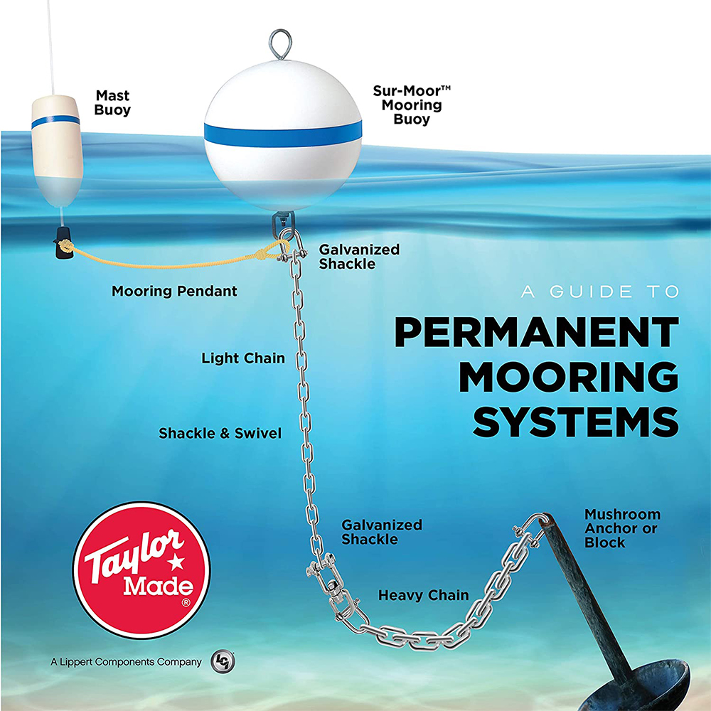 "Sur-Moor T3C Taper Buoy, White (18"")"