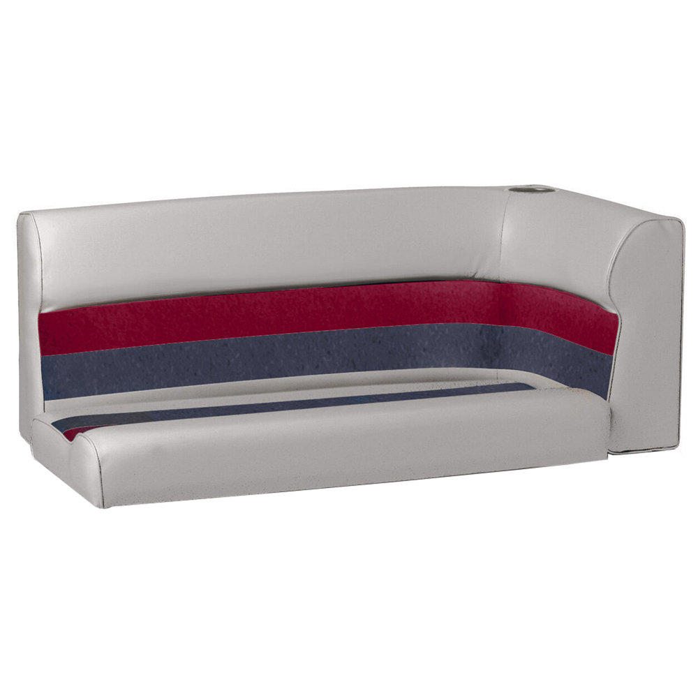 Toonmate Deluxe Pontoon Left-Side Corner Couch - TOP ONLY - Gray/Red/Charcoal