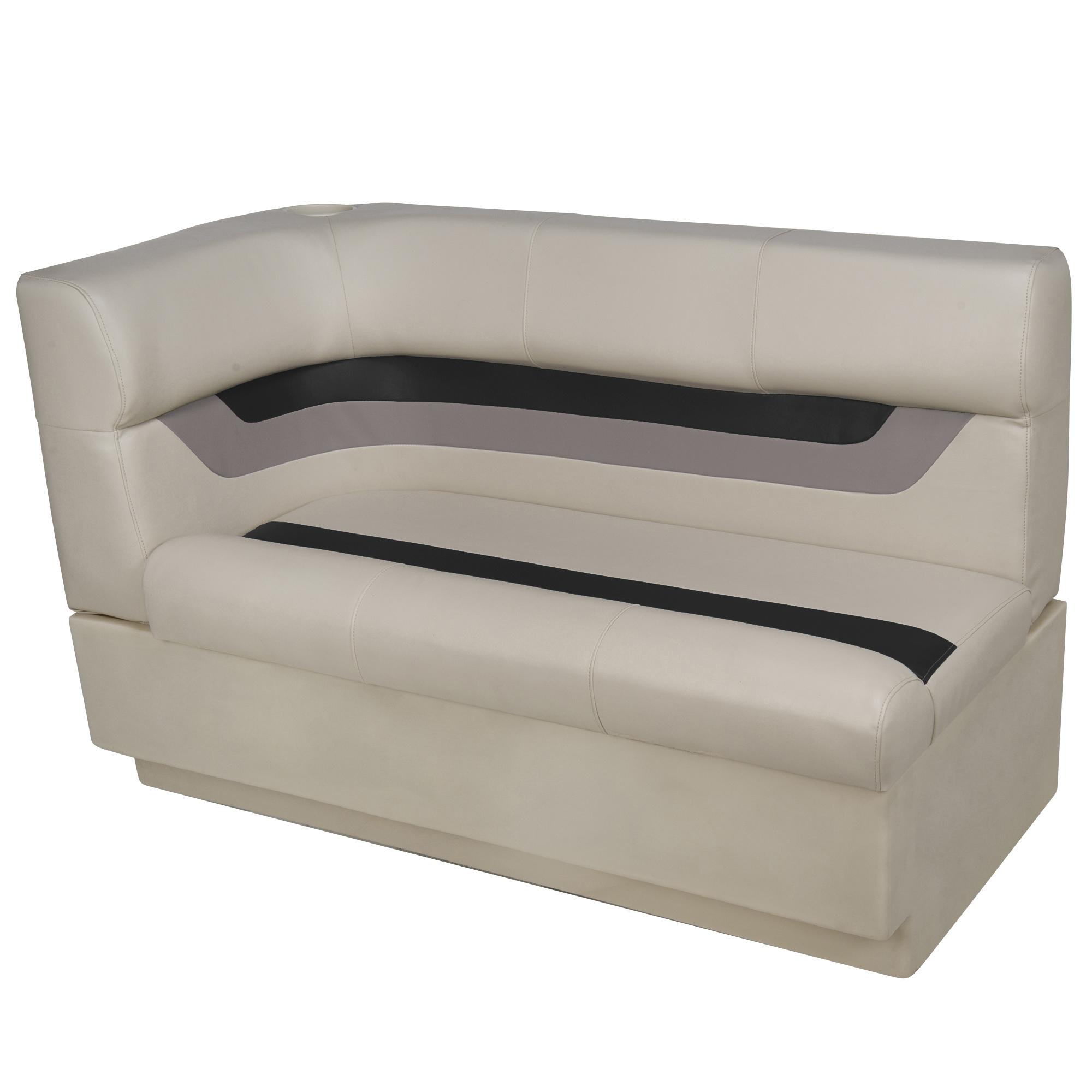 Toonmate Designer Pontoon Right-Side Corner Couch - TOP ONLY - Platinum/Black/Mocha