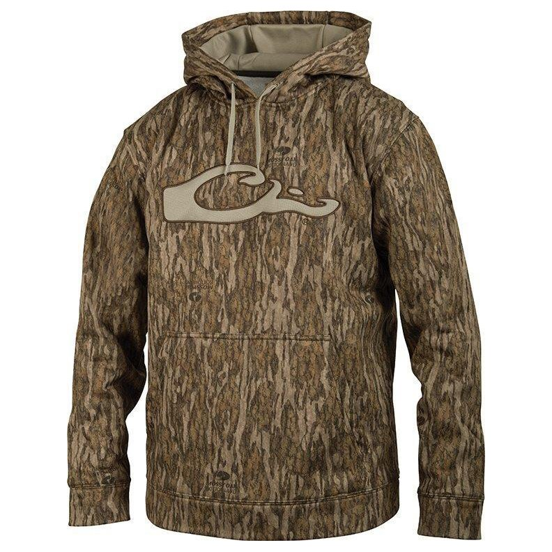 Drake Waterfowl Men's Camo Performance Logo Hoodie