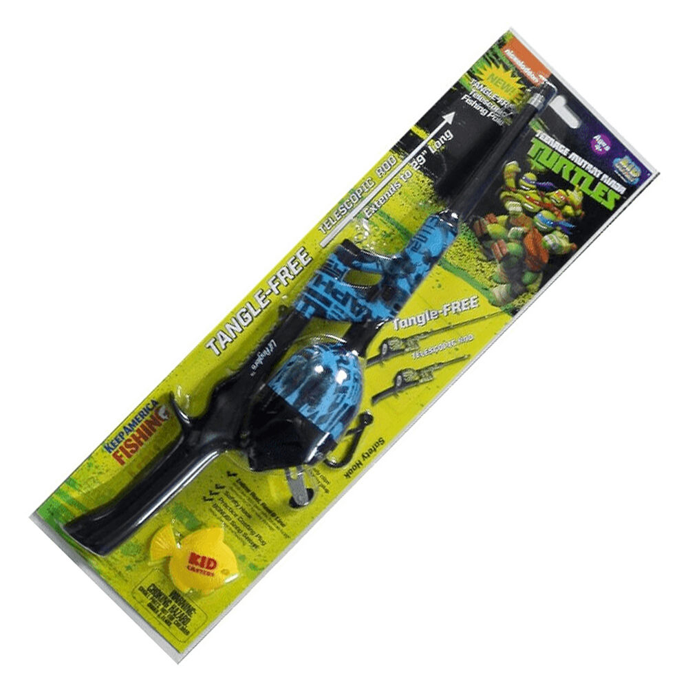Kid Casters TMNT Telescopic No-Tangle Spincast Combo Kit