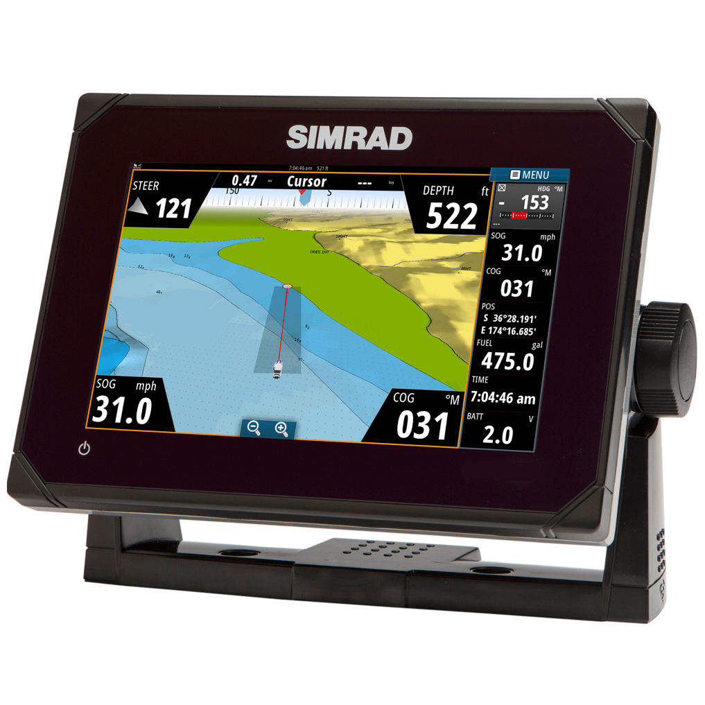 Simrad Go7 Multi touch Chartplotter With Built in Echosounder And Gps