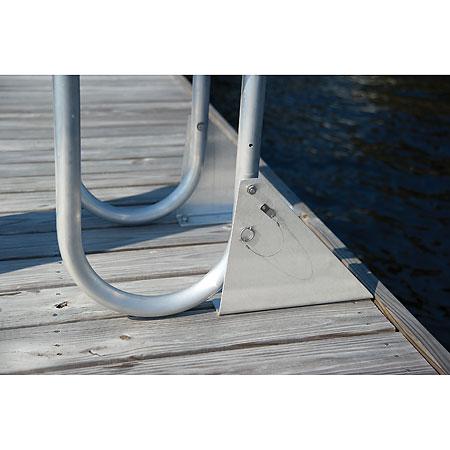 International Dock Wide Step Flip-Up Dock Ladders